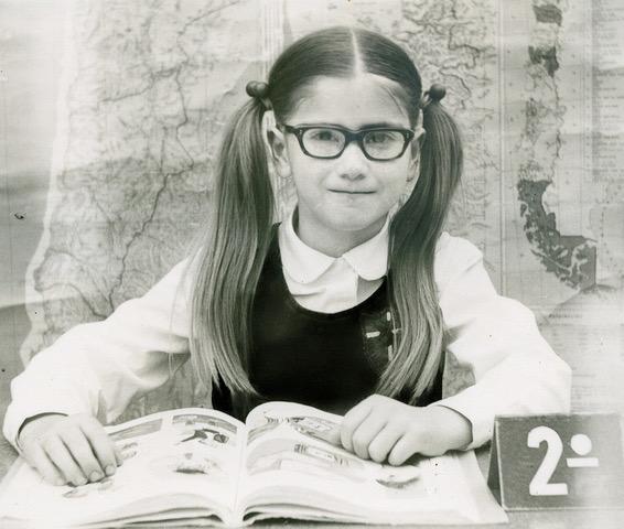Milene J. Fernandez second grade photo at St. Paul's School in Viña del Mar, Chile.